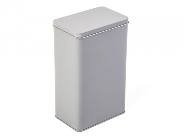 Rectangular tin box, grey