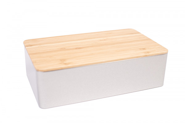 cake box with bamboo lid