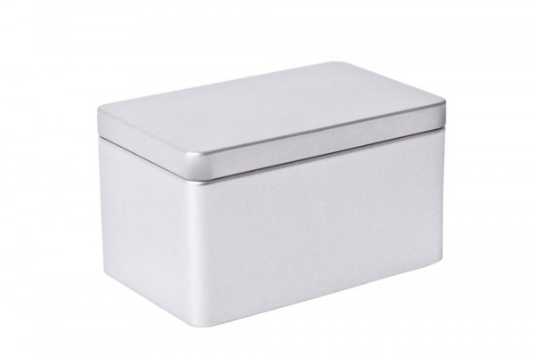 Rectangular metal tin box