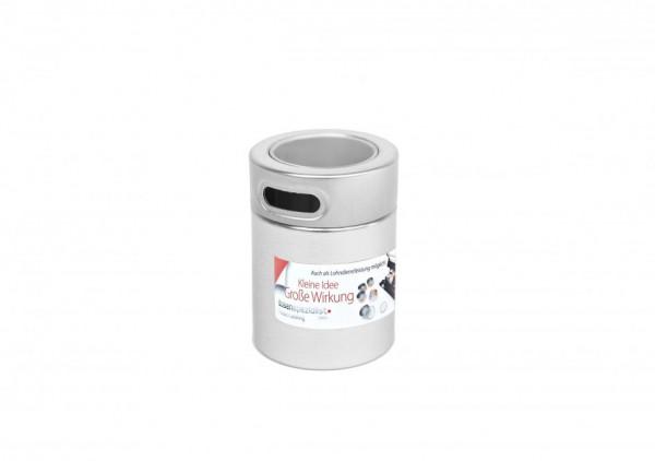 Round spice tin box incl. label