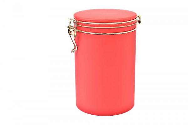 matt red coffee tin