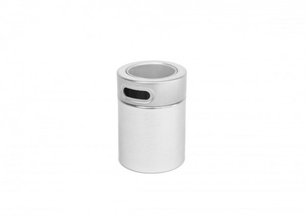 Round spice tin box with PET window