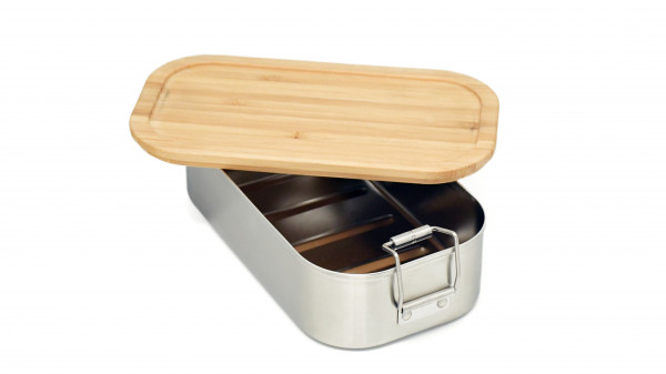 Lunchbox with bamboo lid